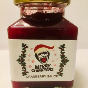 Merry Chimpmas Cranberry Sauce